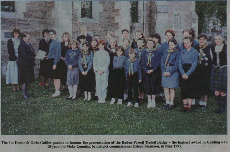 1st Dornoch Girl Guides parade May 1961