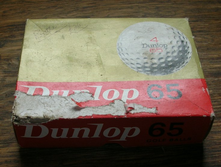 Box of Dunlop 65 Golf Balls