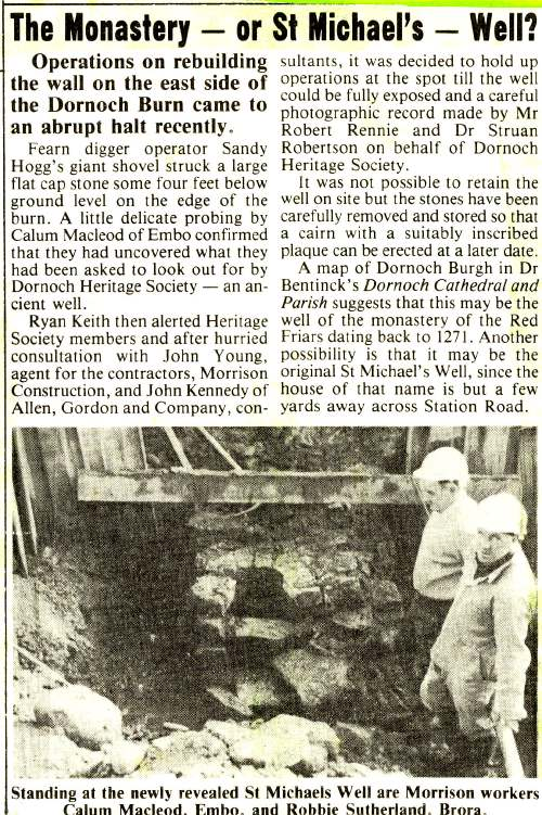 Discovery of St Michael's Well 1991