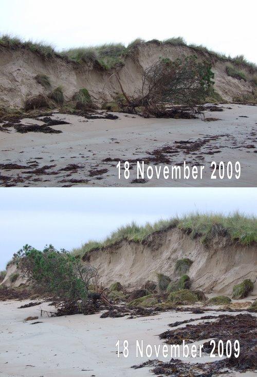 Dornoch beach dune erosion 18 Nov 2009