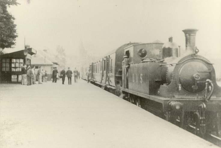 LMS Train at Dornoch Railway Station