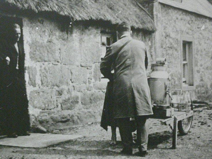 Bill Wright delivering milk