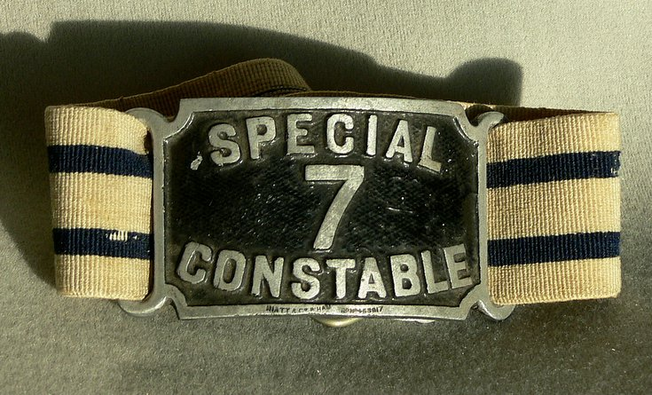 Armband for Special Constable Alex Mackay