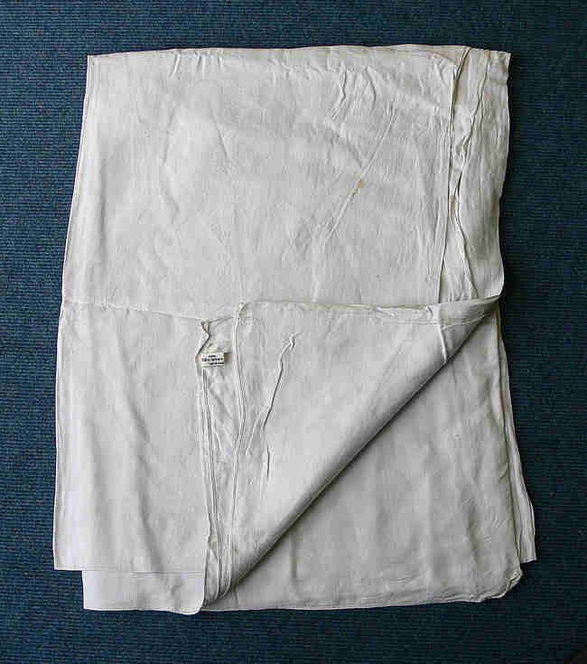 Sheet of linen woven at Spinningdale
