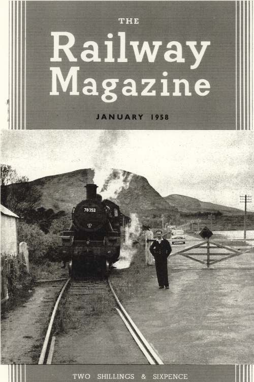Cover of 'The Railway Magazine'  with Cambusavie Crossing photograph