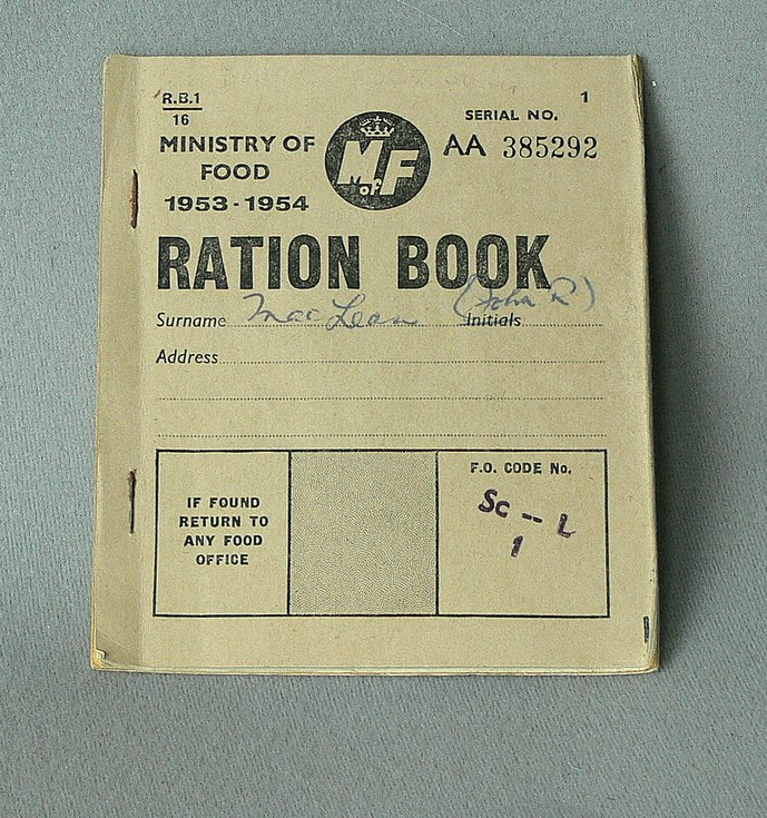 Food ration book 1953/54