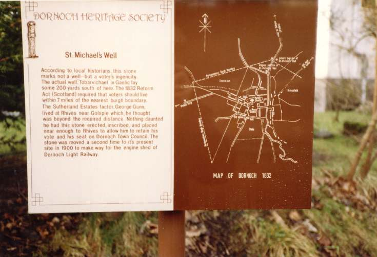 Interpretation panel for St Michael's Well