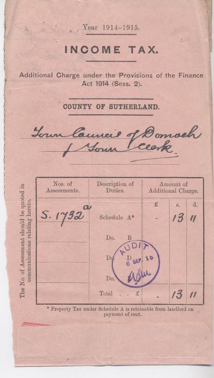 Income tax 1914-15