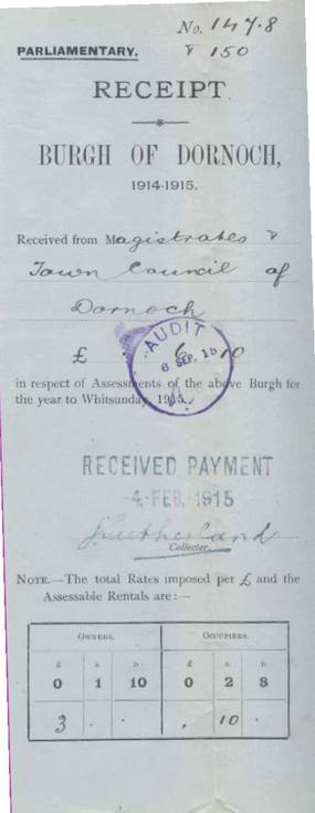Burgh rates 1914-15