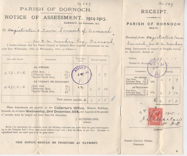 Parish rates 1914-15