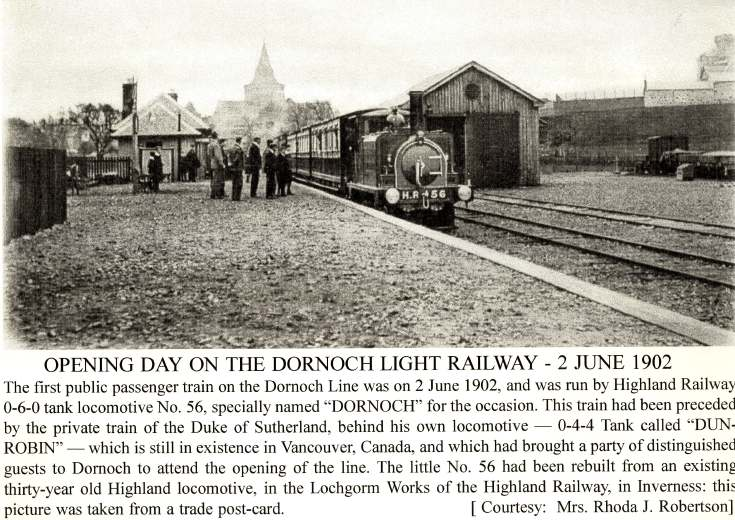 Opening day on the Dornoch Light Railway