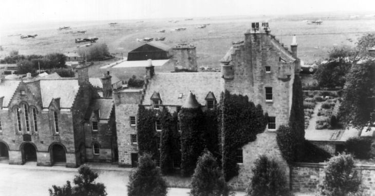 Dornoch Castle with Lancaster bombers