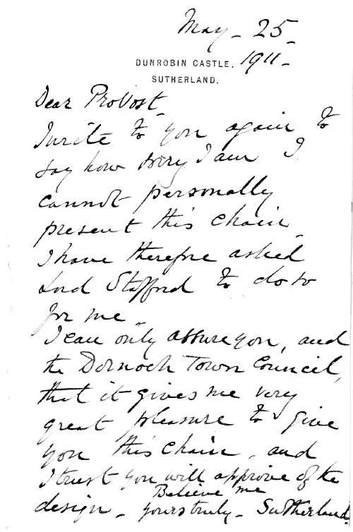 Letter from Sutherland Estate