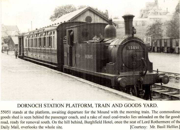 Dornoch Station Platform, Train and Goods Yard