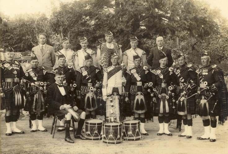 Dornoch Pipe Band c. 1920s
