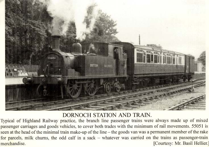 Dornoch Station and Train