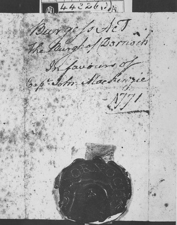 1770/1 Freedom of burgh granted to John Mackenzie 1930