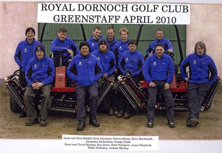 Royal Dornoch Golf Club green staff 2010