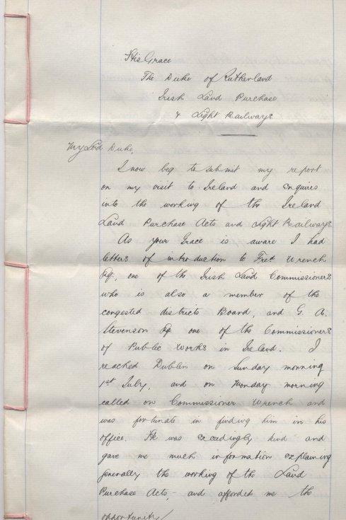 Report on Irish Land Purchase 1894