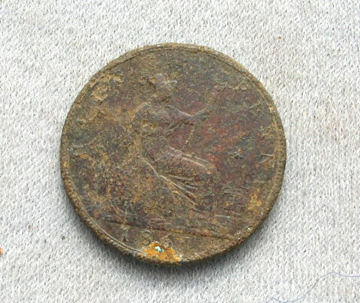 Victoria 1861 half penny found in Dornoch area