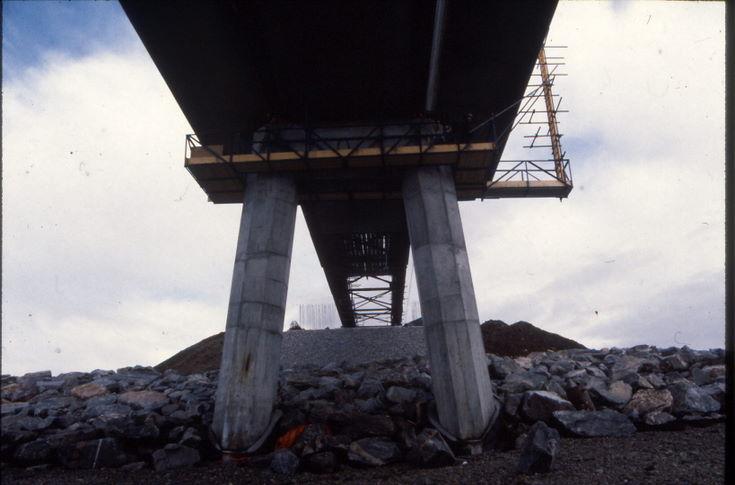 Bridge from below at the south bank