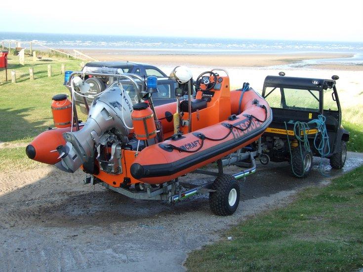 ESRA 'Tim Jarvis' inshore lifeboat on slipway
