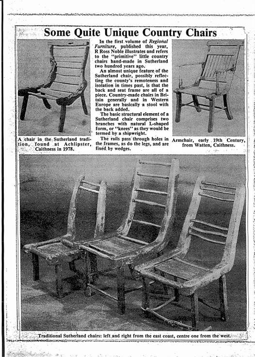Traditional Sutherland and Caithness chairs
