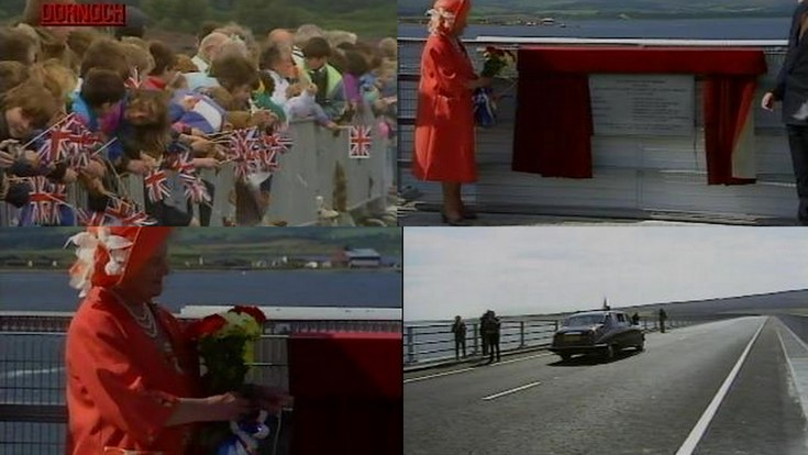 Film of opening of the Dornoch Firth Bridge