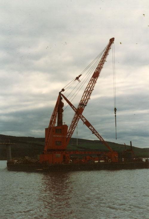 Dornoch Firth Bridge Construction ~ Floating Crane
