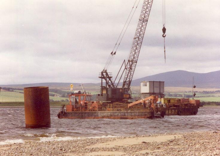 Dornoch Firth Bridge Construction ~ Highland Marine Rig
