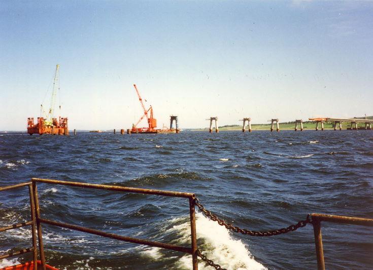Dornoch Firth Bridge Construction ~ View from Upstream