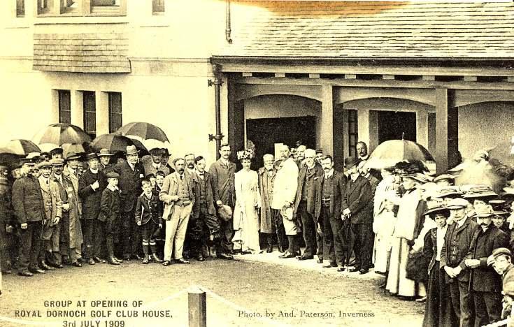 Opening of Royal Dornoch Golf Club House 1909