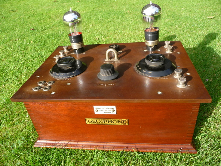 Gecophone two valve radio c 1924