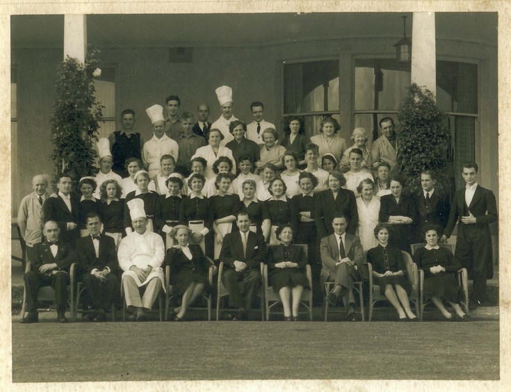 Group photograph Dornoch Hotel Staff c 1956